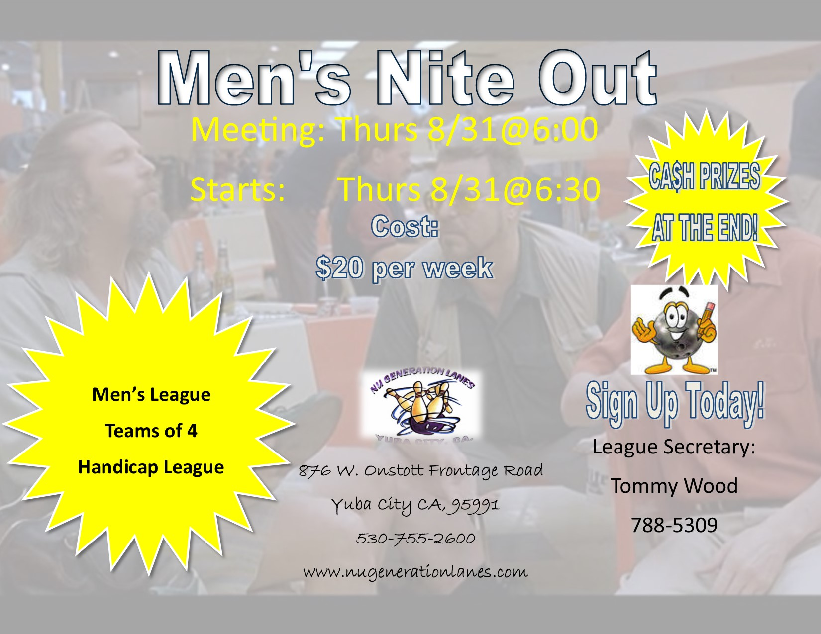 mens nite out